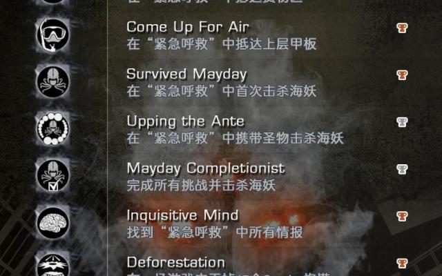 《使命召喚:幽靈》DLC「災難」獎盃圖表