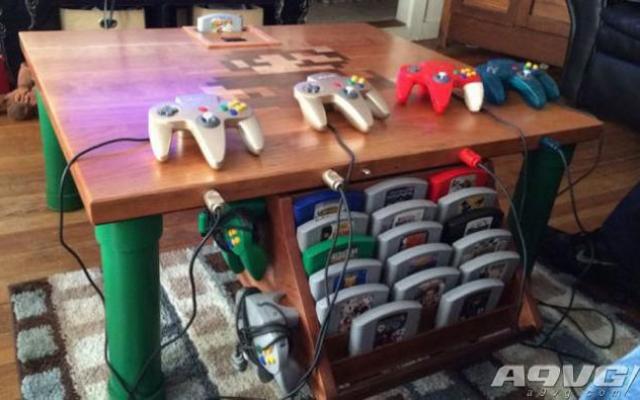 將桌子改造成N64,與朋友在家中歡樂聚會!